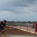Erst Stahlmatten, dann Beton: Das Fundament wird gegossen (03.08.2012)