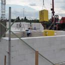 Das Mauerwerk im Erdgeschoss wächst (07.08.2012)