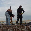 Stahlarmierung der Decke im ersten Stock (28.08.2012)