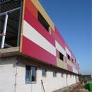 Die Rückseite des neuen Vereinsheims (10.10.2012)