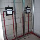 Installationen für die ersten Duschen wurden montiert (21.12.2012)