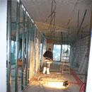 Im Ergeschoss werden schon Zwischenwände gezogen (28.11.2012)