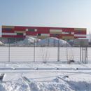 Winterlicher Blick aufs Vereinsheim (28.01.2013)