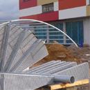 Die Stahltreppe wartet auf Montage (18.02.2013)